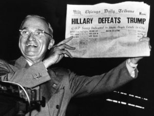 History repeats itself, media was ready for Hillary to be the winner.